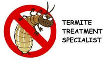 Anti-termite logo with the text termite treatment specialist
